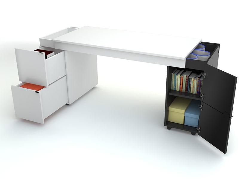 Schreibtischplatte  Schreibtisch Transformers mit weißer Schreibtischplatte - QMM ...