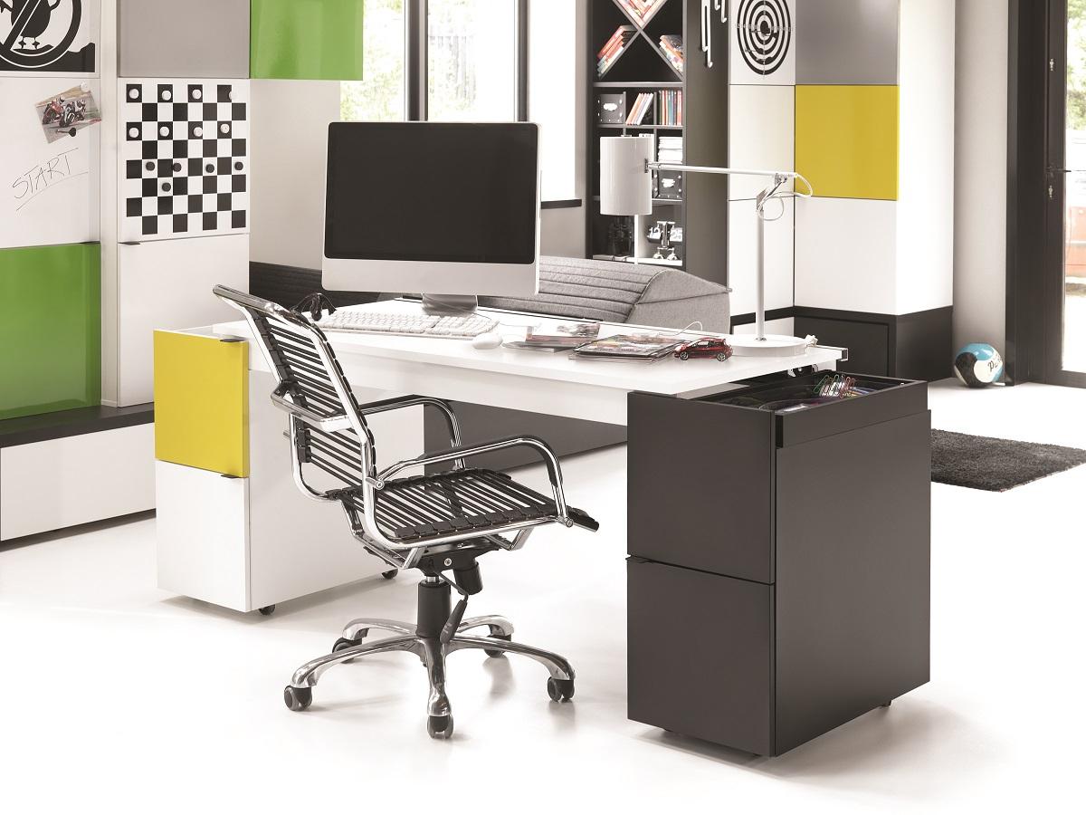 schreibtisch transformers mit wei er schreibtischplatte. Black Bedroom Furniture Sets. Home Design Ideas