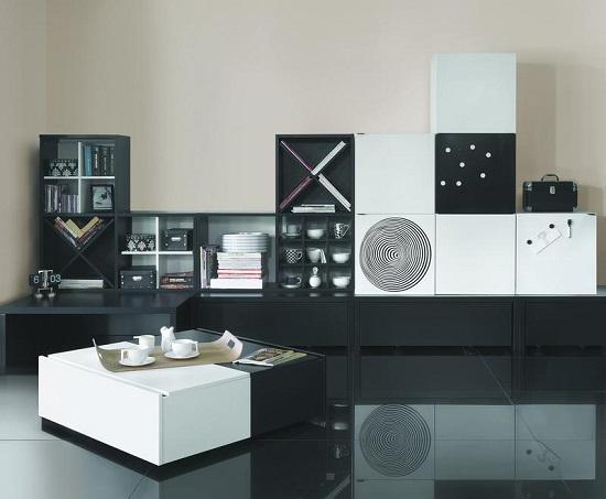 hochbett etagenbett multi black white mit schreibtisch. Black Bedroom Furniture Sets. Home Design Ideas