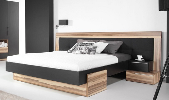 Schlafzimmer set montana schwarz qmm traummoebel for Schlafzimmer set italienisch