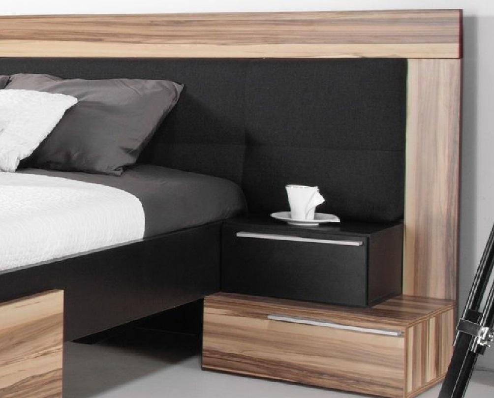 komplettes schlafzimmer set montana wei schwarz schrank bett nachttkonsolen ebay. Black Bedroom Furniture Sets. Home Design Ideas