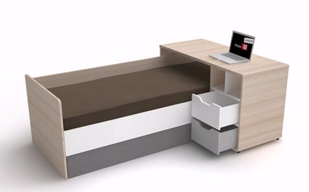 bett 200x90 3 colors qmm traummoebel. Black Bedroom Furniture Sets. Home Design Ideas