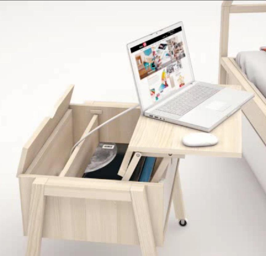 beistelltisch mit stauraum indiana qmm traummoebel. Black Bedroom Furniture Sets. Home Design Ideas