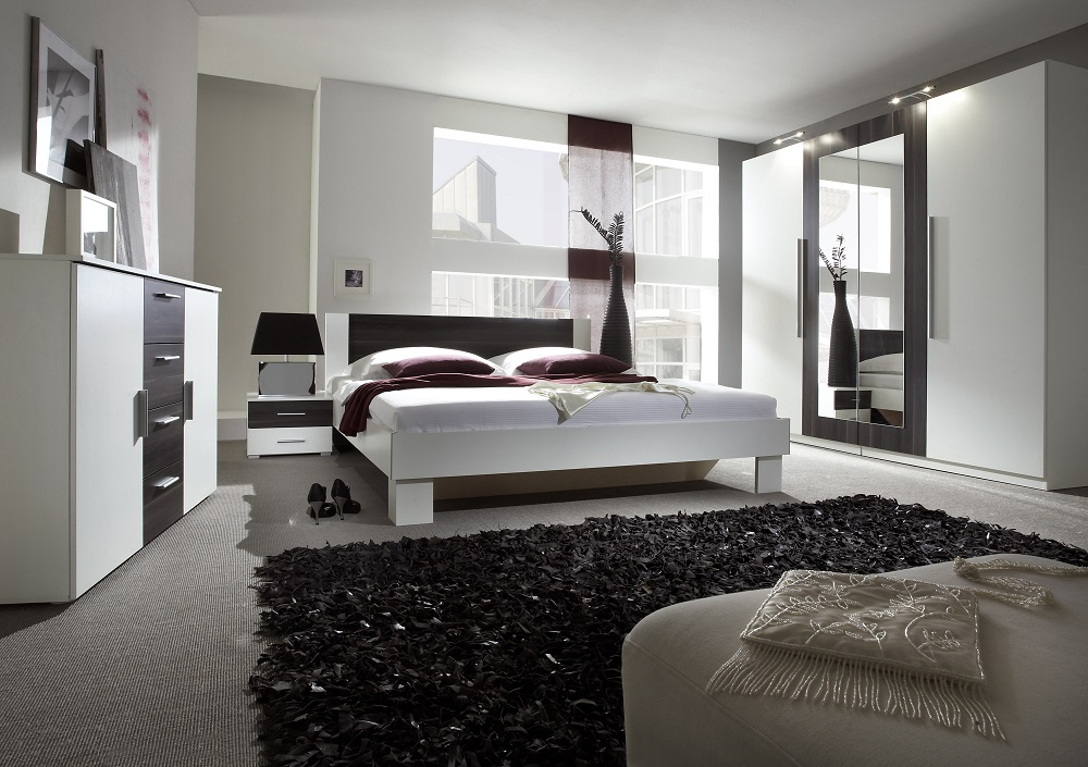 schlafzimmer set verena 5 tlg komplett mit kommode schrank bett nakos 6 farben ebay. Black Bedroom Furniture Sets. Home Design Ideas