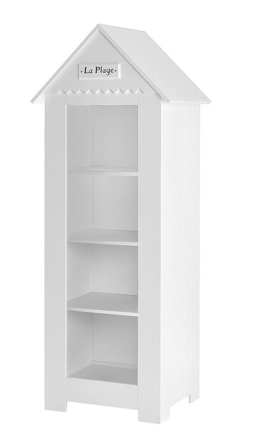 schmales standregal saint tropez wei mdf qmm traummoebel. Black Bedroom Furniture Sets. Home Design Ideas