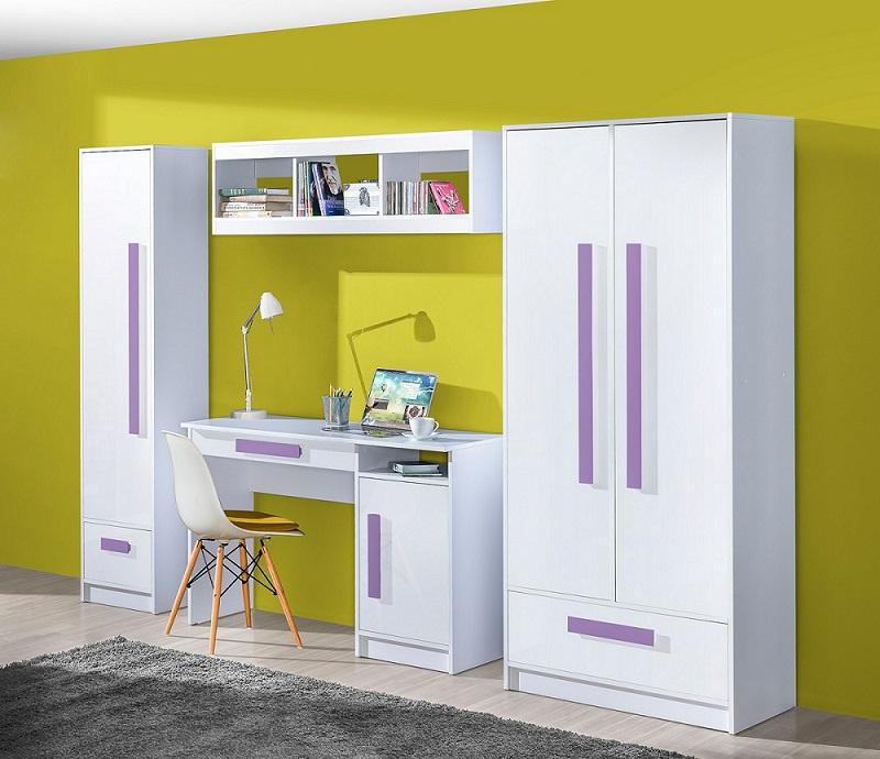 jugendzimmer kinderzimmer gerome komplett set b hochglanz. Black Bedroom Furniture Sets. Home Design Ideas