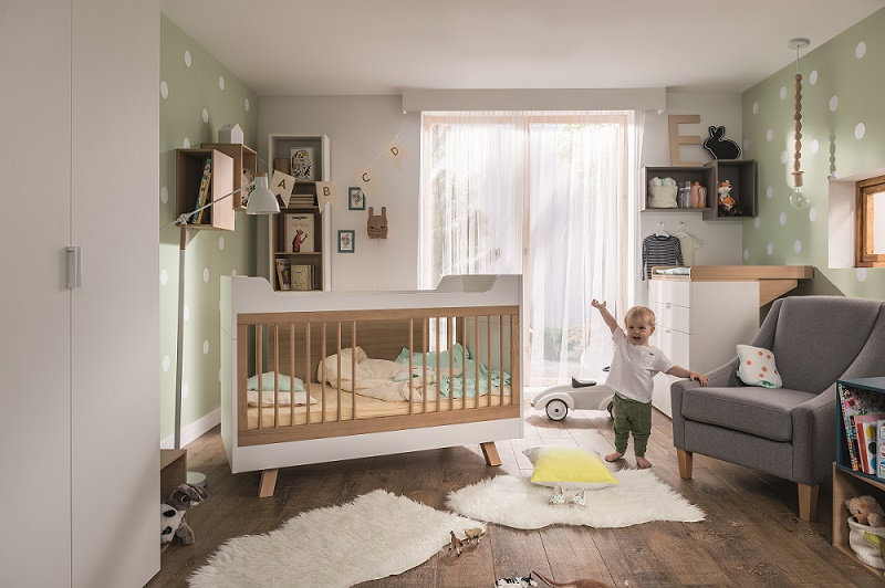 Außergewöhnliche babyzimmer set  Babyzimmer Kinderzimmer weiß SARAGOSSA Massivholz Babymöbelset ...