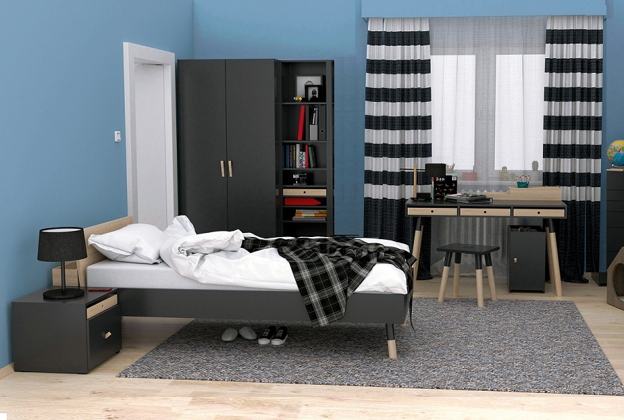 jugendzimmer komplett lennox set b qmm traummoebel. Black Bedroom Furniture Sets. Home Design Ideas