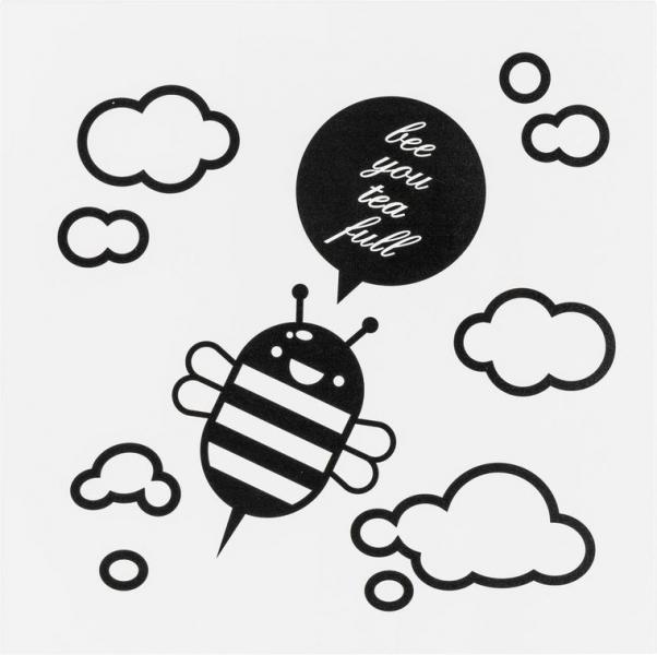Metallplatte Bee