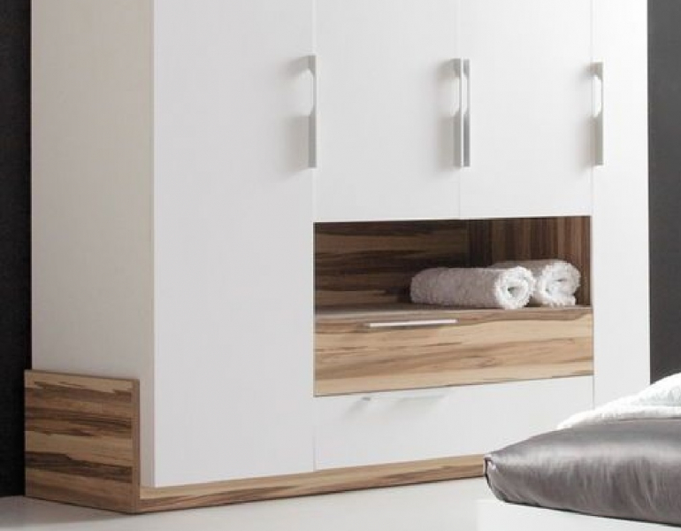 schlafzimmer set 4tlg montana wei qmm traummoebel. Black Bedroom Furniture Sets. Home Design Ideas
