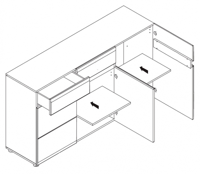 schlafzimmer komplett linn 5 tlg set b qmm traummoebel. Black Bedroom Furniture Sets. Home Design Ideas
