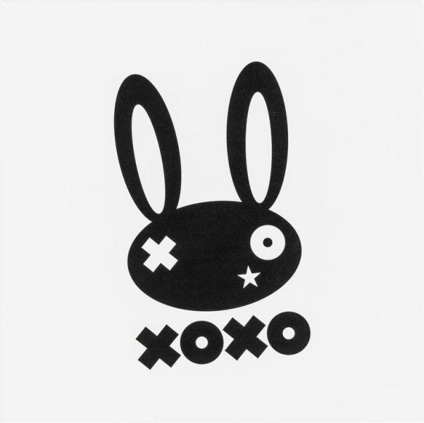 Metallplatte Bunny