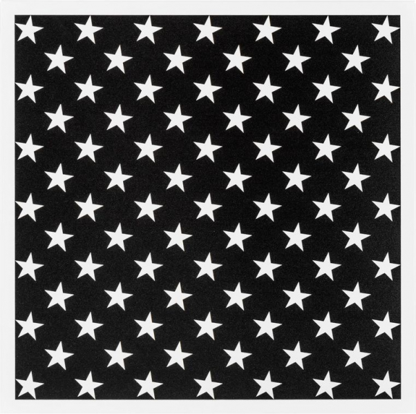 Metallplatte White Stars