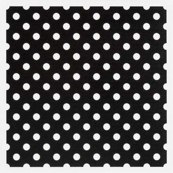 Metallplatte White Dots
