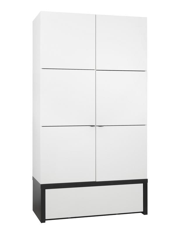 schrank 2t black white ohne podestelement qmm traummoebel. Black Bedroom Furniture Sets. Home Design Ideas