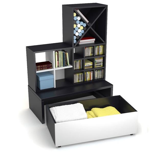 regal l black white qmm traummoebel. Black Bedroom Furniture Sets. Home Design Ideas