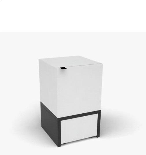 kleine kommode mit schubladen black white qmm traummoebel. Black Bedroom Furniture Sets. Home Design Ideas