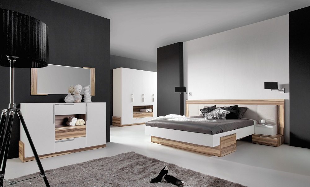 schlafzimmer set 4tlg montana wei qmm traummoebel. Black Bedroom Furniture Sets. Home Design Ideas