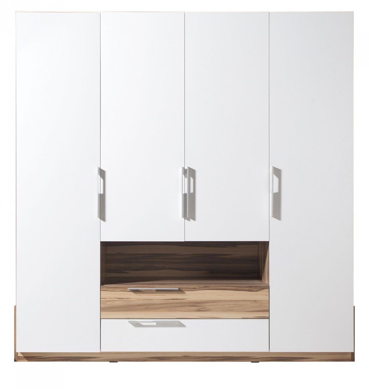 Schwarz Weiß Im Arbeitszimmer: Schlafzimmer Komplett MONTANA Weiß-schwarz Set Schrank 4