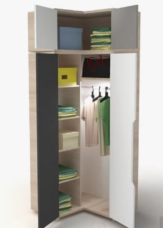 Eckschrank aufsatz 3 colors qmm traummoebel for Eckschrank jugendzimmer