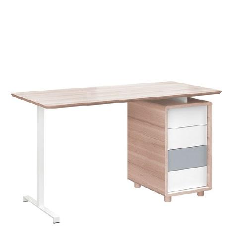 Schreibtisch 140 3 colors qmm traummoebel for Ecken schreibtisch