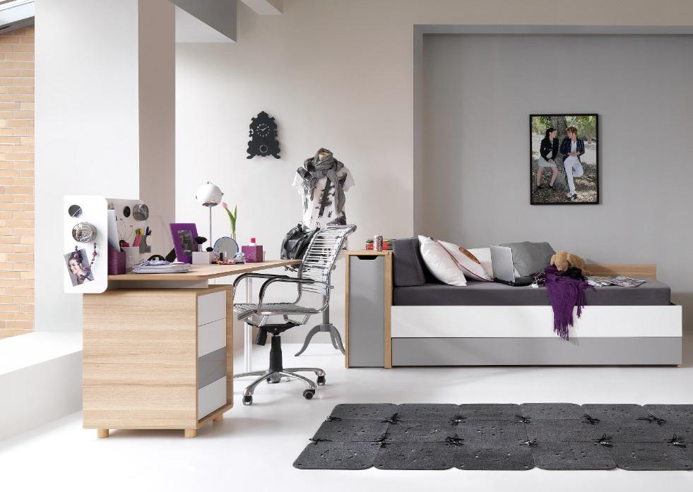 Schreibtisch 140 3 colors qmm traummoebel for Schreibtisch 140