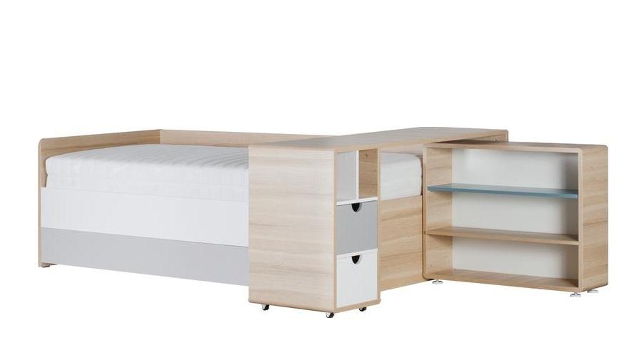 regal zum bett 3 colors qmm traummoebel. Black Bedroom Furniture Sets. Home Design Ideas