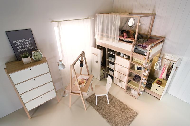 hochbett indiana 200x90 qmm traummoebel. Black Bedroom Furniture Sets. Home Design Ideas