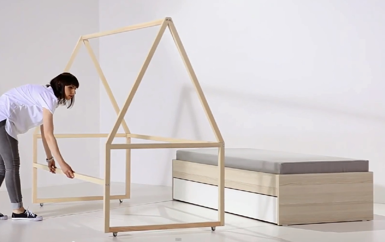 rollgestell zum bett 200x90 indiana qmm traummoebel. Black Bedroom Furniture Sets. Home Design Ideas