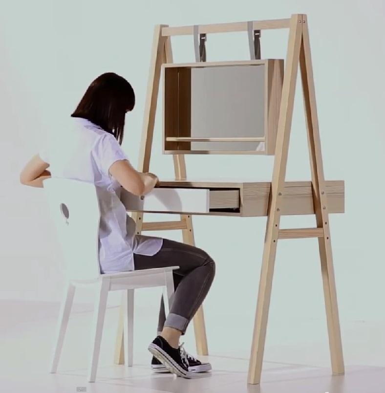 frisiertisch mit spiegel indiana qmm traummoebel. Black Bedroom Furniture Sets. Home Design Ideas