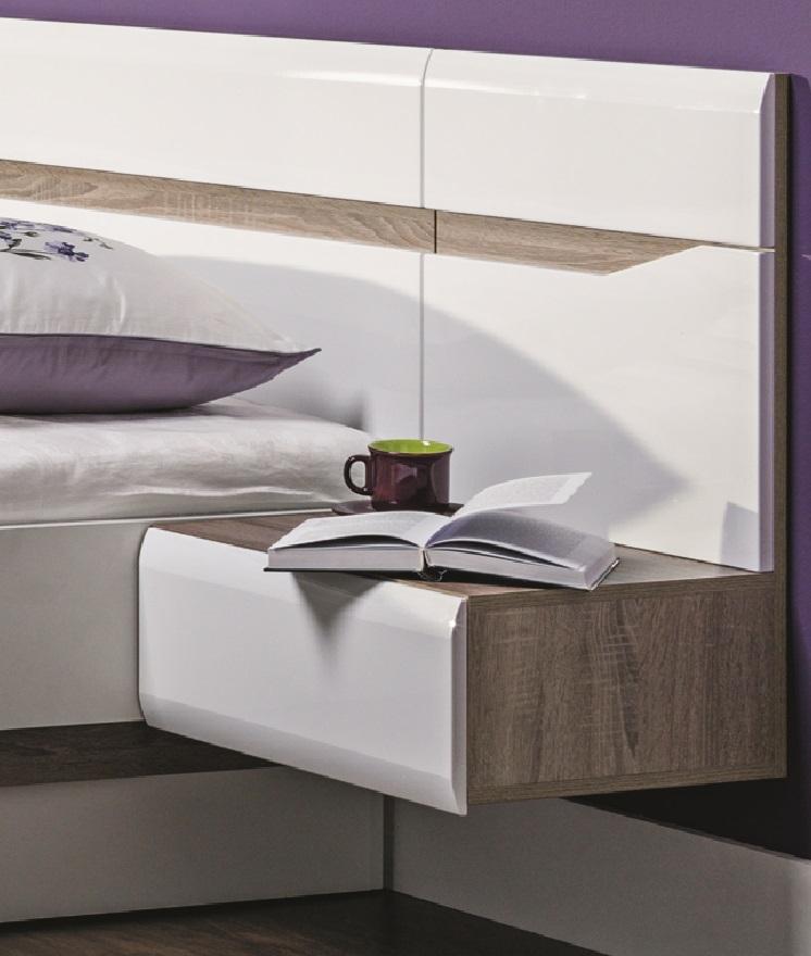 linke h ngende nachtkonsole linn qmm traummoebel. Black Bedroom Furniture Sets. Home Design Ideas