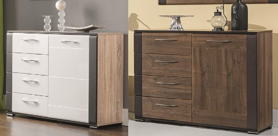 schlafzimmer komplett nell set b wei nu braun polsterbett kommode schrank nakos ebay. Black Bedroom Furniture Sets. Home Design Ideas
