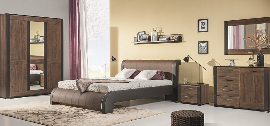 Schlafzimmer komplett 6tlg. Nell Set B QMM TraumMoebel