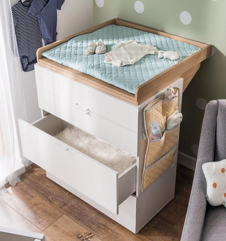 babyzimmer kinderzimmer weiss calgary komplett schrank kommode bett schreibtisch ebay. Black Bedroom Furniture Sets. Home Design Ideas