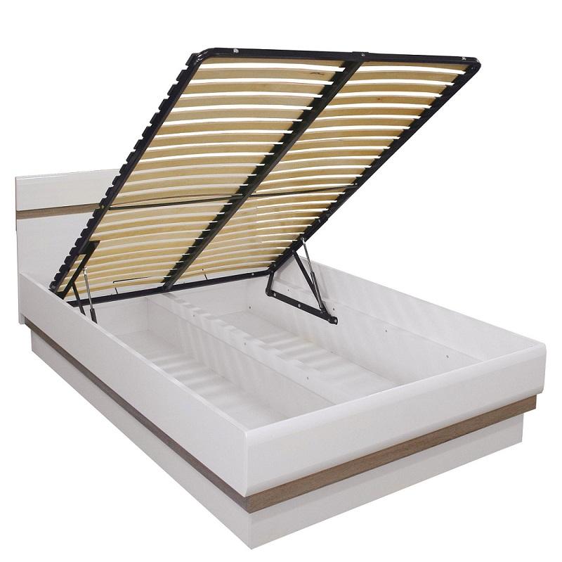 doppelbett linn mit lattenrost und bettkasten qmm traummoebel. Black Bedroom Furniture Sets. Home Design Ideas