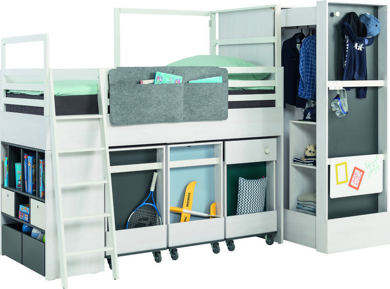 kasten f r hochbett multi nevis qmm traummoebel. Black Bedroom Furniture Sets. Home Design Ideas