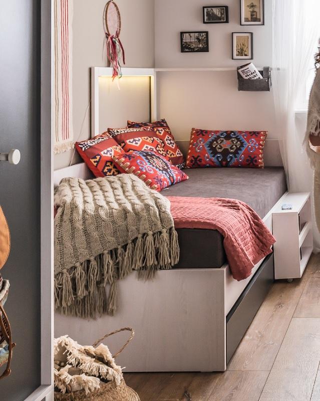led beleuchtung f r bett 200x90 nevis qmm traummoebel. Black Bedroom Furniture Sets. Home Design Ideas