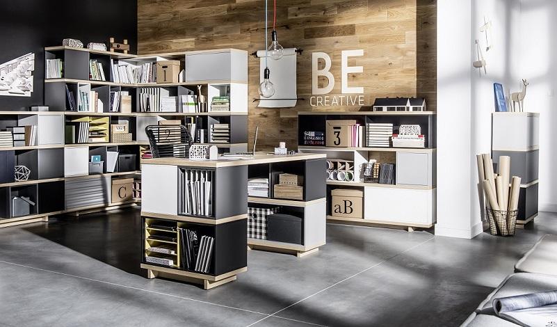 Büromöbel Set komplett Imagine dunkel - QMM TraumMoebel