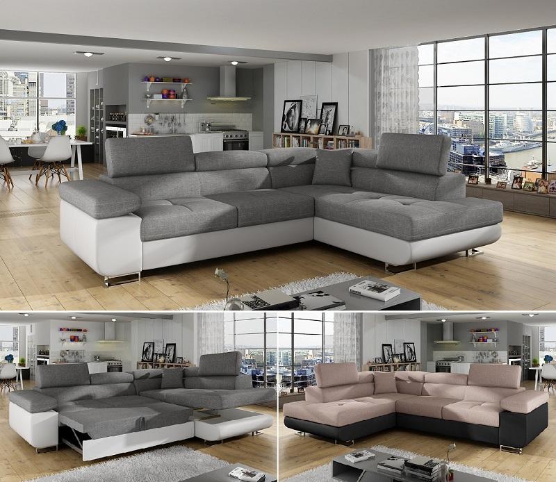 ecksofa andy mit schlaffunktion bettkasten polsterecke wohnlandschaft schlafsofa ebay. Black Bedroom Furniture Sets. Home Design Ideas