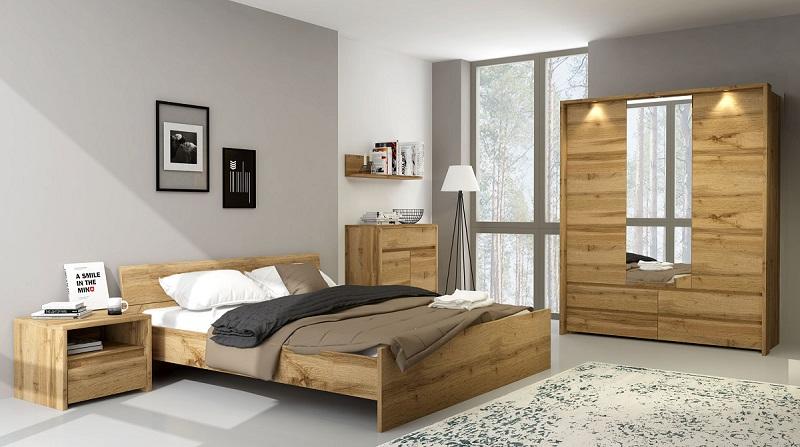 schrank 3t mit spiegel forest qmm traummoebel. Black Bedroom Furniture Sets. Home Design Ideas