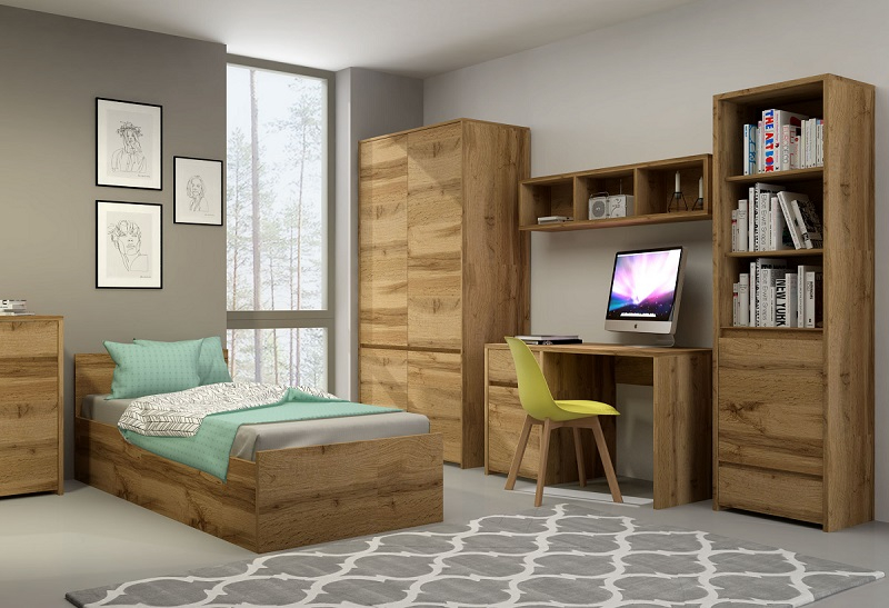 bett 200x90 forest qmm traummoebel. Black Bedroom Furniture Sets. Home Design Ideas