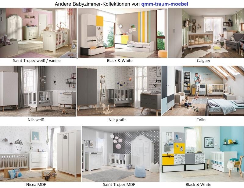 Möbel Komplettzimmer Babyzimmer Kinderzimmer Weiß Saint
