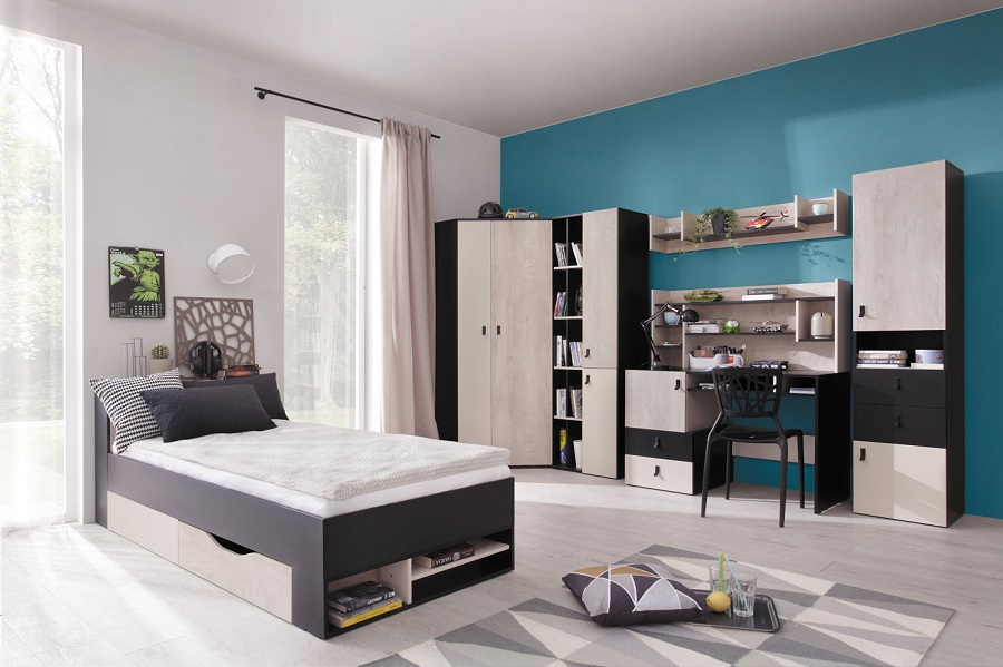 jugendzimmer komplett space set d qmm traummoebel. Black Bedroom Furniture Sets. Home Design Ideas