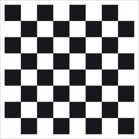 Metallplatte Schachbrett