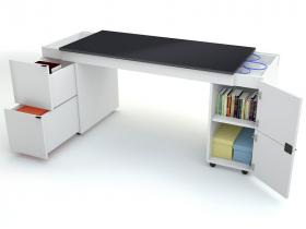 Schreibtisch Transformers mit schwarzer Schreibtischplatte