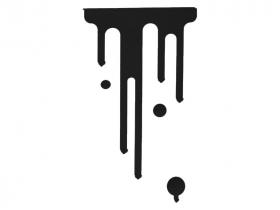 Anhänger Tintenklecks schwarz