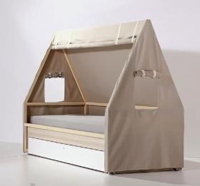 Rollgestell zum Bett 200x90 Indiana
