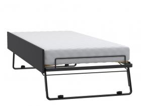 Gästeliege für Bett/Couch 200x90 Black&White schwarz