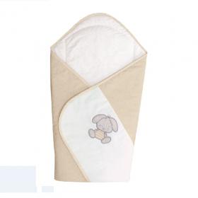 Baby-Einschlagdecke Beige