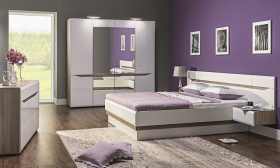 Schlafzimmer komplett Linn 5-tlg Set B